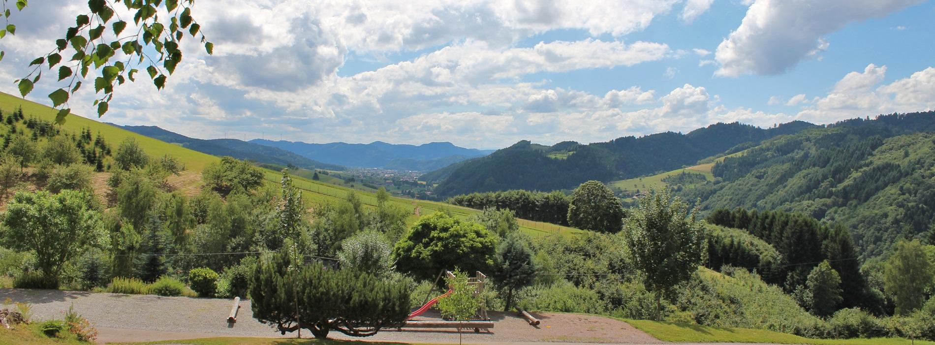 Ausblick Hubhof Oberharmersbach Schwarzwald