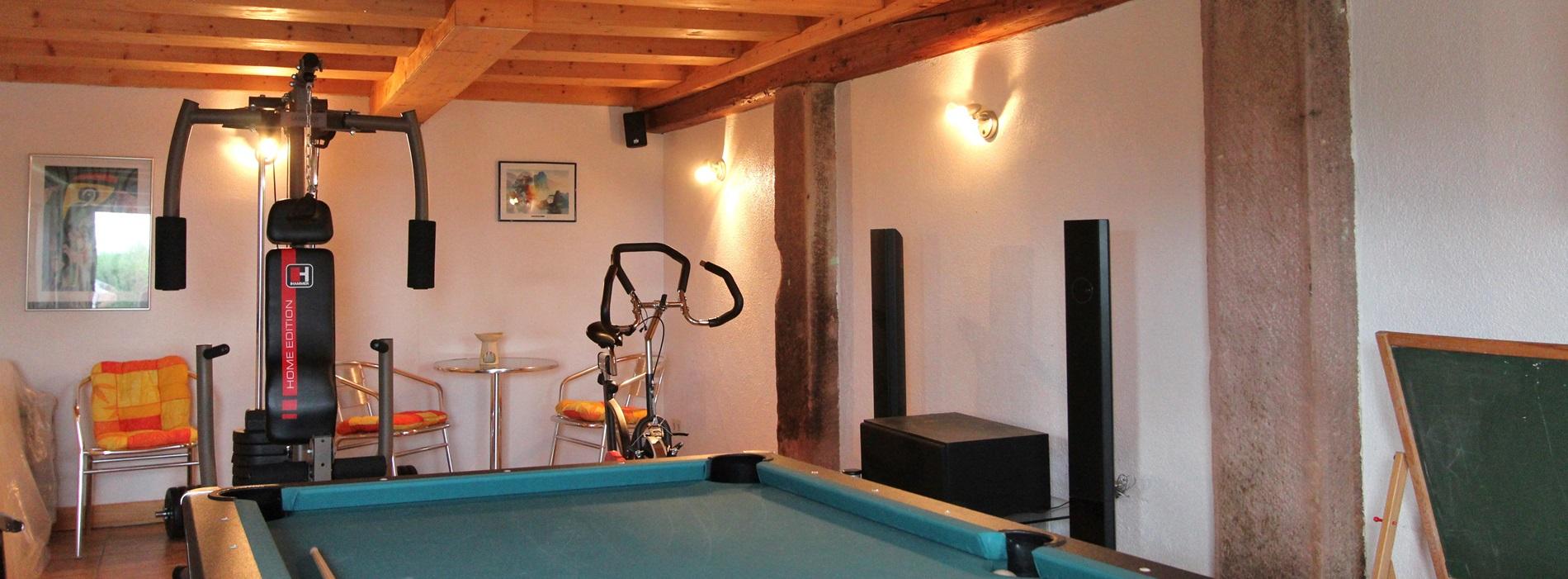 Fitnessraum Ferienhaus Hubhof