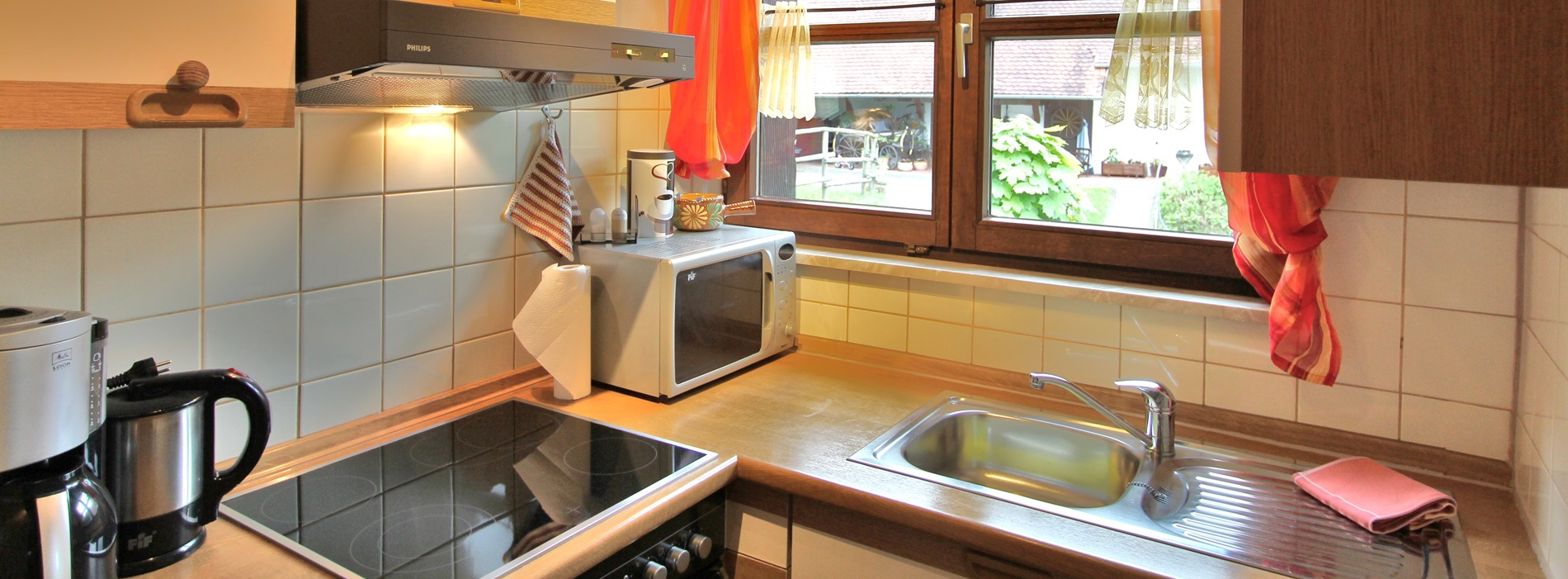 Küche Ferienwohnung Hubhof Oberharmersbach