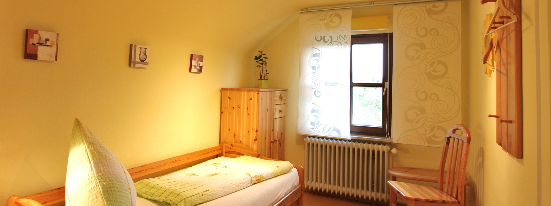 Ferienwohnung Panoramablick Hubhof Schlafzimmer