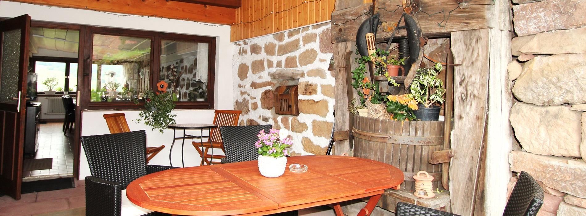 Terrasse Ferienwohnungen Hubhof Schwarzwald